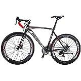 Eurobike Bicicleta de Carretera XC550 21 velocidades Bicicleta de Freno de Disco Dual, Rueda de 54 cm.