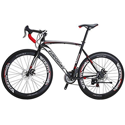 Eurobike Road Bike XC550 21 Speed Gears Bicycle Dual Disc Brake Bike (54cm -Spoke wheel)