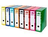6 archivadores de palanca A4 Officepaper forrado sin rado lomo 80mm con caja y compresor metálico colores surtido.