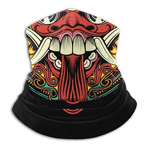 MYGZ-GW Halswärmer Gamasche, traditionelle Ritual balinesische Maske Motorrad Gesichtsmaske Abdeckung für Winter kaltes Wetter & warm halten