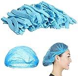 Mingjun - 100 gorros desechables no tejidos, elásticos, antipolvo, para médicos, laboratorios, enfermeras, salones de tatuajes, servicios de alimentos y hospitales