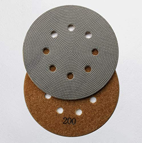Best Buy! Diamond-Disc - Electroplated Diamond Sanding Pads for 5 - 8 Hole Palm Sander (200 Grit)