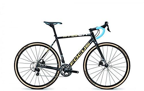 Cyclocross Roadbike Focus MARES CX Shimano 105 22 Gang CARBON, Rahmenhöhen:51;Farben:carbon/liteblue(cream)