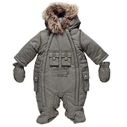 Chicco Collection ABC Khaki Thermosoft®-Funktionswattierung Schneeanzug Schneeoverall Wind- und Wasserabweisend 6-9 Monate