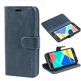 Mulbess Funda para Samsung A5 2016, Funda Cartera Samsung Galaxy A5 2016, Funda Libro para Samsung Galaxy A5 2016 con Tapa, Azul Marino