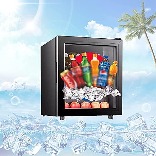 NFRMJMR Freestanding Wine Cooler con la Temperatura de una Sola Zona, Barra de Vino Botella/Cerveza Refrigerador refrigerador de la Pantalla con Tres Capas Puerta de Vidrio aislada, Ciclo de enfriam