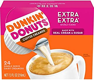 Dunkin Donuts coffee creamer single serve extra extra
