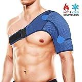 Hombrera Compresión Ajustable Shoulder Support, Hombro Apoyo Transpirable de Neopreno Dolor en el Hombro, Hombros Artríticos, Protección Prevención y Recuperación de Lesiones Deportivas (S)