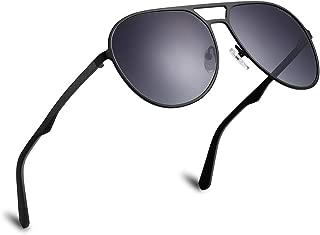 LAPALIDE Polarized Fashion Classic Aviator Sunglass for Men, Driving Glasses 100% UV(UA/UB) Lightweight Carbon Fiber Frame