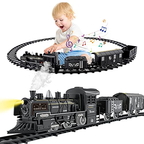 CATTA Toy Train Set for Kids, Steam Train Toy for Toddler Boys Girls,...