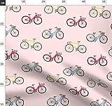 Fahrräder, Rosa Stoffe - Individuell Bedruckt von