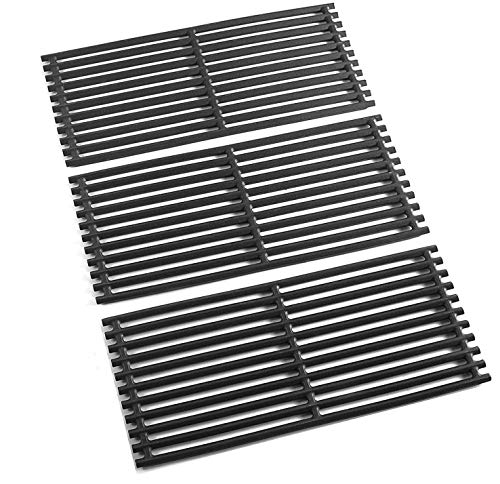 SafBbcue 17 in Cooking Grates Replacement Parts for Charbroil Tru Infrared Grill 463242715, 463242716, 463276016, 466242715, 466242815, Lowes 606682, 639322 Gas Grill, Cast Iron Cooking Grids, 3 Pack