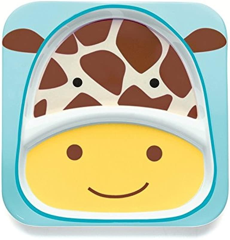 Skip Hop Baby Zoo Little Kid And Toddler Melamine Feeding Divided Plate Multi Jules Giraffe
