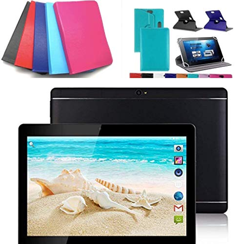 10.1' inch Android 8.0 Tablet with Leather Case (Blue)