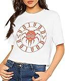 Photo de Voivod T-shirt imprimé à manches courtes pour femme - Blanc - XL