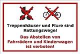Melis Folienwerkstatt Schild - Fahrräder abstellen - 30x20cm | Bohrlöcher | 3mm Aluverbund – S00050-036-B -20 Varianten