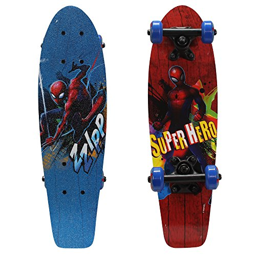 PlayWheels Ultimate SpiderMan 21quot Wood Cruiser Skateboard Super Hero