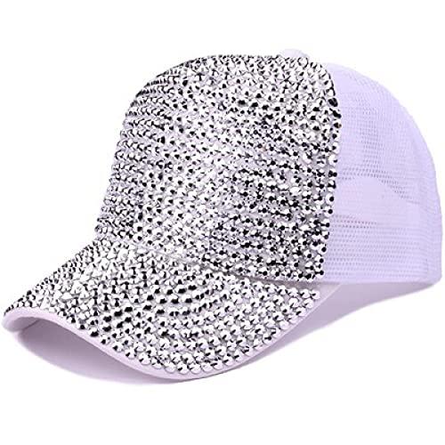 Sombrero Gorra De Béisbol Clásico Gorra De Béisbol con Lentejuelas De Perlas De Lujo con Diamantes De Imitación para Muj