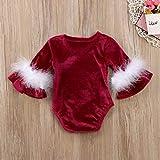 ジュルイライフ SXY赤ちゃんクリスマススタイルの手紙パターンロングトランペットスリーブジャンプスーツロンパース、キッドサイズ:90センチメートル
