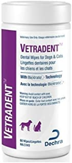 Dechra Vetradent Dental Wipes for Dogs and Cats 60 Count