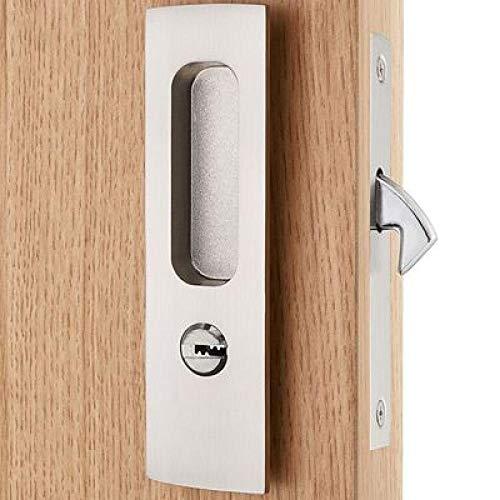 deurknoppen 5 stijlen badkamer interieur schuifdeur slot en wastafel haak onzichtbare haak beweging deurslot met sleutels Satijn Nikkel