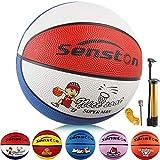 Senston Ballon de Basket-Ball Basketball Enfant Caoutchouc Doux et Bouncy Basketball Extérieur et intérieur-Taille 3