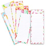 Juvale 6-Pack To Do List - Magnetic Notepads for Fridge, Grocery Shopping, and Reminders, Colorful Fruit...