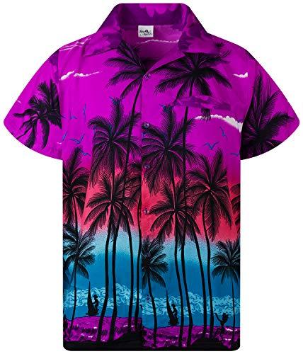 King Kameha Funky Camicia Hawaiana, Beach, Viola, M