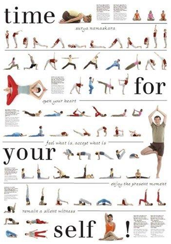 Yoga-poster Mit 67 Asanas, Nice To Meet Your Self E. Peter