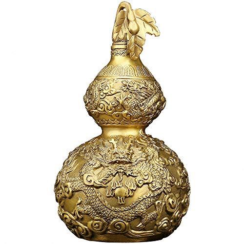 Feng Shui Brass Good Luck Gourd (Wu Lou/ Hu Lu) with...