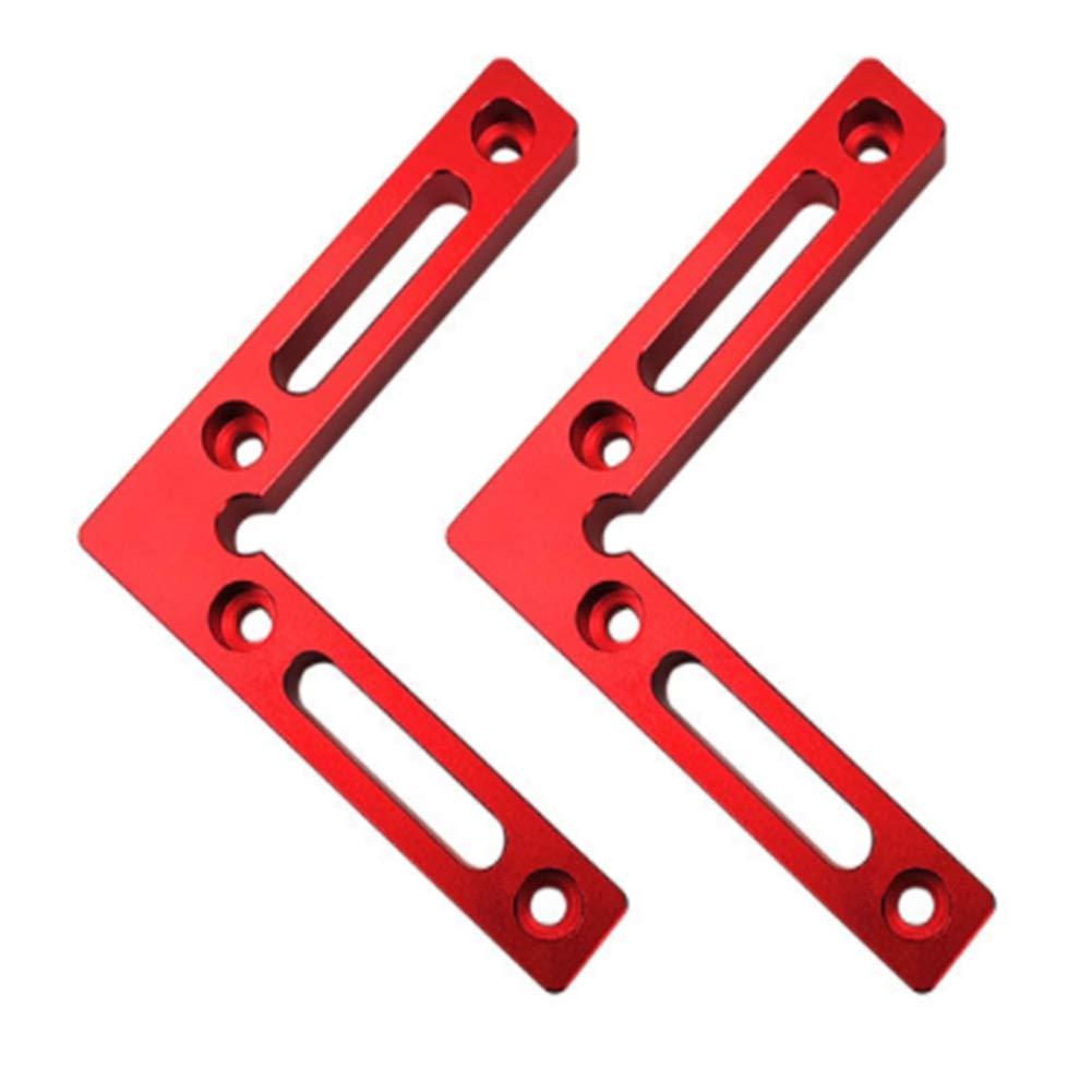 regla Posicionamiento de carpinter/ía Carpintero Herramienta Marco de fijaci/ón Esquina Tipo L Soporte Cuadrados Soldadura en bloque Abrazadera de /ángulo recto de aleaci/ón de aluminio