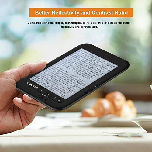 BTIHCEUOT E-Reader de 6 Pulgadas con Pantalla de Tinta electrónica de resolución 800x600 300DPI E-Book con Cubierta Azul (16GB 8GB 4GB)(Gris 8g) miniatura