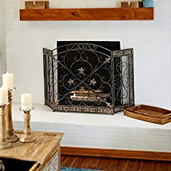Deco 79 71822 Metal Decorative Fire Screen Cover