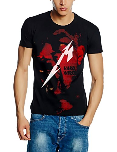 Metallica Allover T-Shirt Hardwired.to SELF-Destruct Cover Album Shirt, Schwarz, GR.S