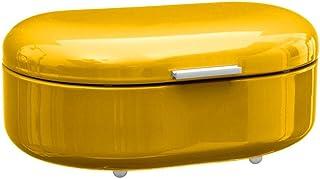 Boite à pain - 40 x 25 x 16,3 cm - Métal - Jaune