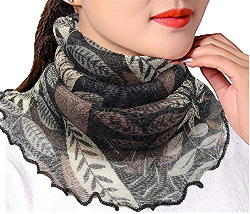 Women Silk Scarves Balaclava Face Mask Cover Neck Gaiter Summer UV Protection (SF-#24) -  Mitario Femiego