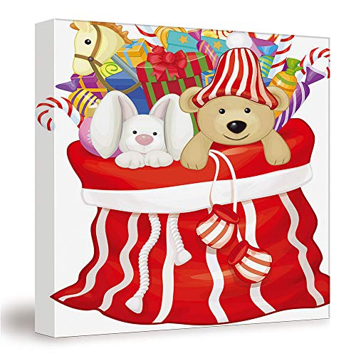 SUPNON Vector Santa Claus/Canvas Wall Art, Mordern Home Decoration 12'x12' №SW133938