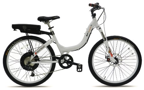 Prodeco V3 Stride R 500 8 Speed Electric Bicycle, Pure White Gloss, 26-Inch/One Size