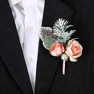 Silk Flower Arrangements SERRAFLORA Wristlet Corsage,Bridesmaid Bouquet,Wedding Wrist Flowers,Bridal Bouquet,Artificial Flower Bouquet,Silk Flower Supplies,Flower Decor,Wedding Flowers(17# 6pcs)