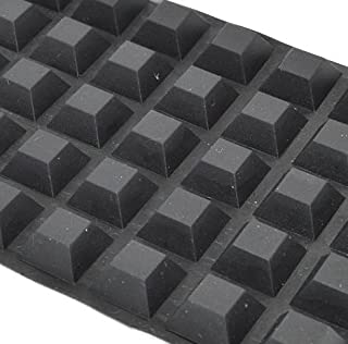 Aiskaer Self-Adhesive Rubber Feet-Door & Drawer Cabinet Furniture Bumpers-Black Cube (0.5