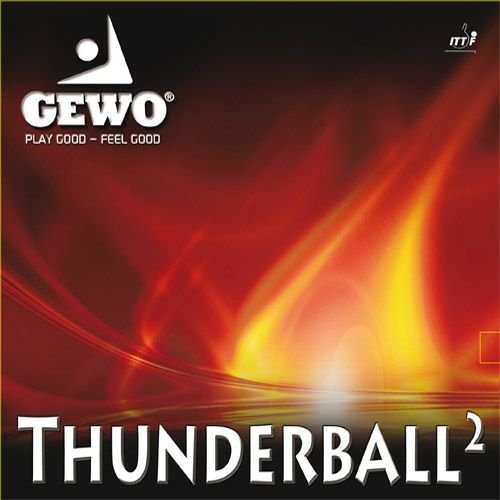 GEWO Belag Thunderball 2 Größe 2,1 mm, rot