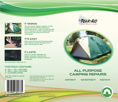Camping Instant Repair Kit Tear Aid Tape Type A - Patches