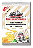 Fisherman's Friend Cough Drops, Cough Suppressant and Sore Throat Lozenges, Sugar Free Honey-Lemon, Strong and Soothing Honey Lemon Flavor, 5.5mg Menthol, 40 Count (Pack of 12)