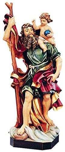 Holzfigur Heiliger Christophorus coloriert - Schnitzereien Dolfi