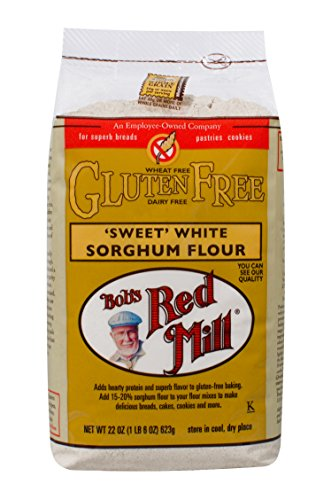 Bob's Red Mill - Gluten Free Sweet White Sorghum Flour, 22 Ounces (Pack of 4)