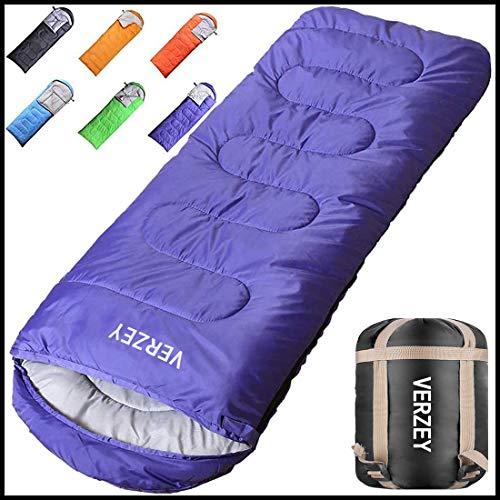 VERZEY Envelope Mummy Camping Sleeping Bag – Waterproof Sleeping Bag