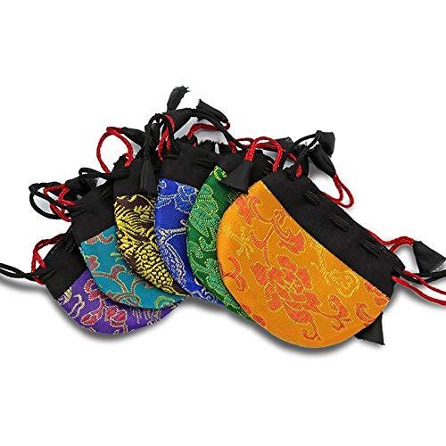 Graziosa borsetta in broccato per pendolo o Mala, 7 x 7 cm, colori assortiti