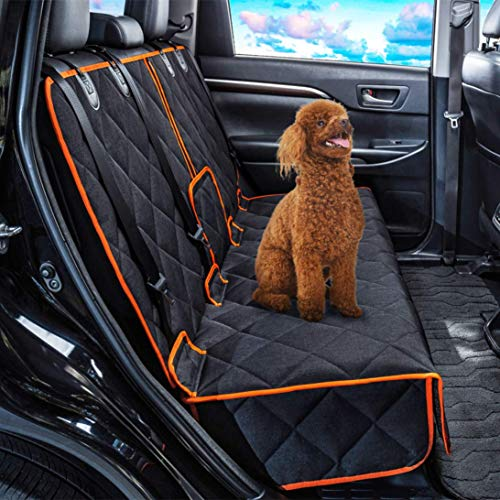 Dog Car Seat Covers Nonslip Rear Seat Cover for Kids Waterproof Pet Bench Seat Cover with Middle Seat Belt Capable for Cars Heavy-Duty Pet Car Seat Cover Protector Armrest Compatible for Cars  Florida
