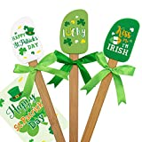"🍀 St. Patrick's Day Silicone Spatula Set - Package includes 1 ""Happy St. Patrick's Day"" Silicone Spatula, 1 ""Kiss Me I'm Irish"" Silicone Spatula, 1 ""Lucky"" Silicone Spatula and 1 St. Patrick's Day gift card. Each silicone spatula is decorated with a ..."