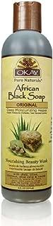 Okay African Soap Liquid, Black, 8 Ounce